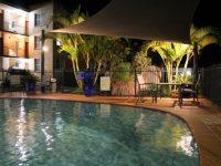 AZA Motel Pool and BBQ Area